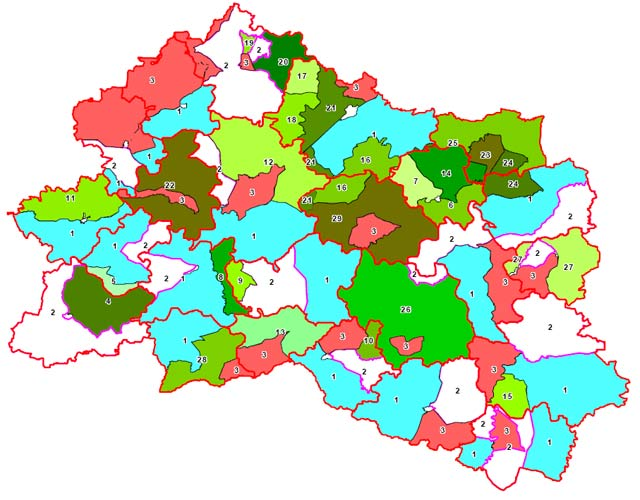 карта общедоступных охотничьих