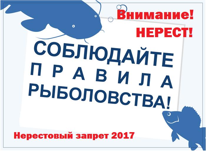 Нерестовый запрет 2017 в Удмуртии