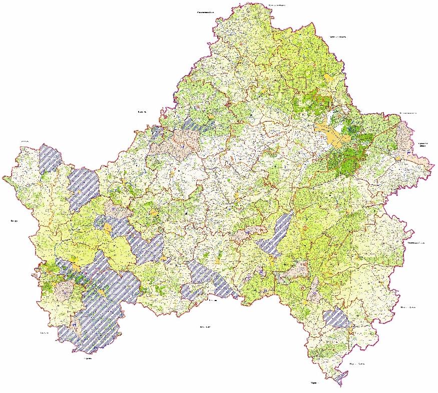 Карта охотничьих угодий Брянской области