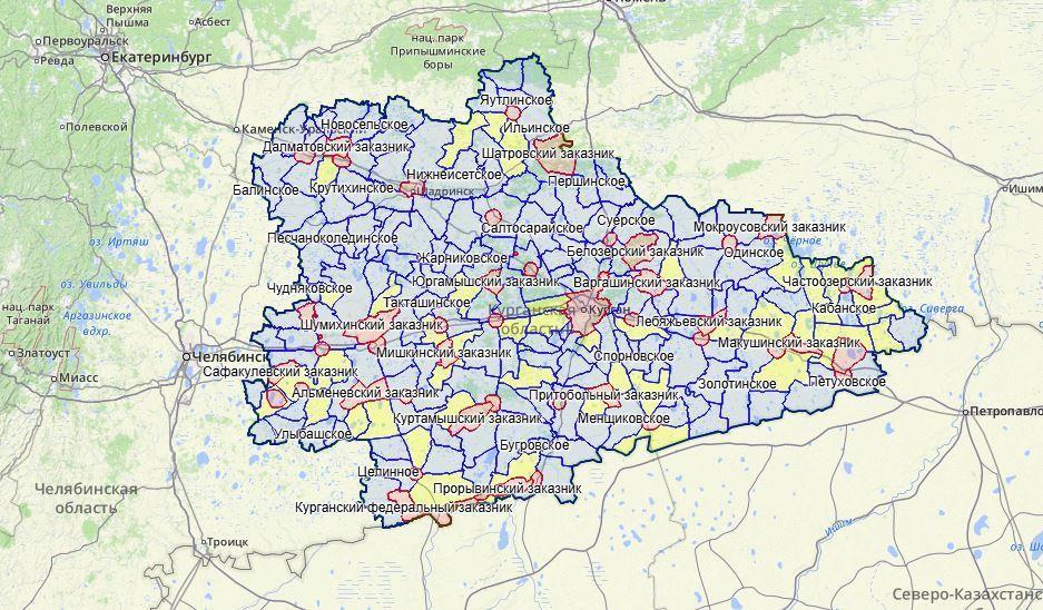 Карта охотника: Курганская область добавлена в проект