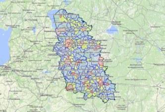 Карта охотника: добавлена Псковская область