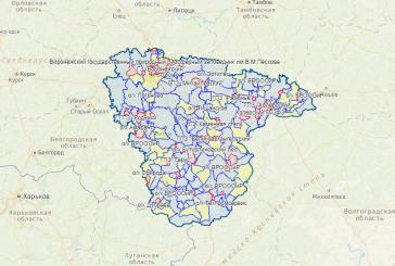 Карта охотника — Воронежская область
