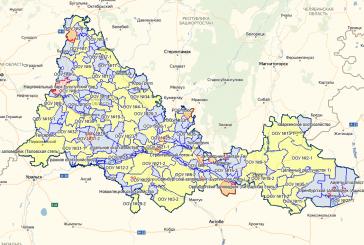 Обновление карты охотугодий Оренбургской области