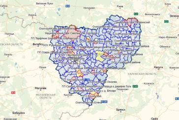 Карта охотника — Смоленская область