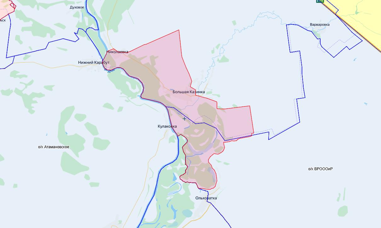 Зона запрета охоты в Верхнемамонском и Павловском районах