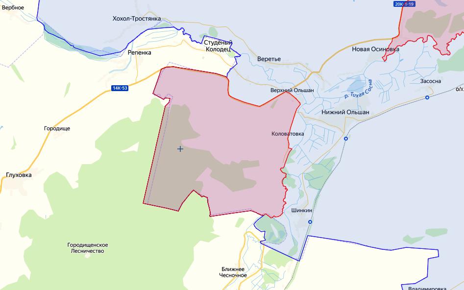 Зона запрета охоты в Острогожском районе