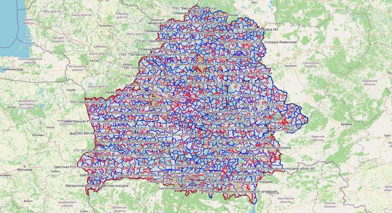 Карта охотника — Республика Беларусь